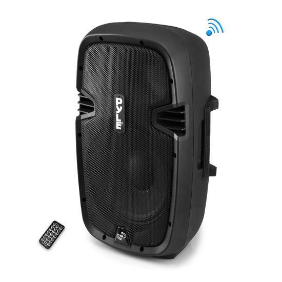 Pyle - PPHP1237UB , DJ Equipment , DJ Speakers , 12'' 900 Watt Powered Two-Way Speaker with MP3/USB/SD/ Bluetooth Music Streaming & Record Function w/Remote control