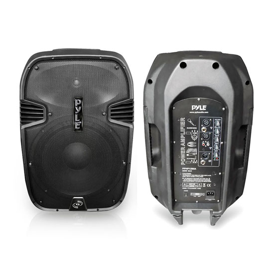 Pyle - PPHP1285A , DJ Equipment , DJ Speakers , 800 Watts 12'' Powered 2 Way Plastic Molded Speaker System