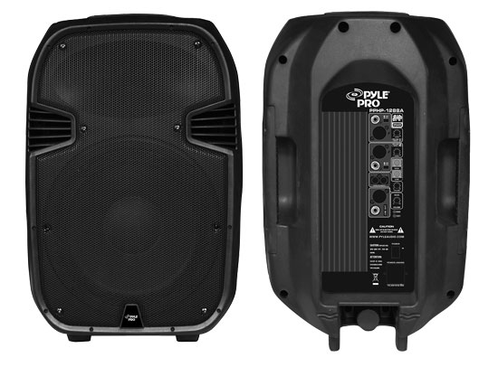 Pyle - PPHP1288A , DJ Equipment , DJ Speakers , 800 Watts Powered 12'' Two-Way Plastic Molded Speaker System