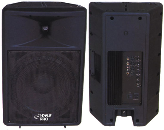 Pyle - PPHP1292A ,  , 800 Watt Powered 12'' Two-Way Plastic Molded Loudspeaker