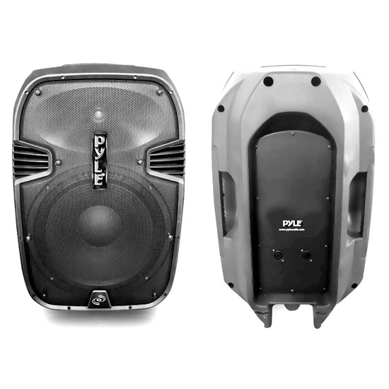 Pyle - PPHP1295 , DJ Equipment , DJ Speakers , 800 Watts 12'' 2 Way Plastic Molded Speaker System