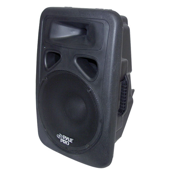 Pyle - PPHP1298A , DJ Equipment , DJ Speakers , 800 Watts Powered 12'' Two-Way Plastic Molded Speaker System