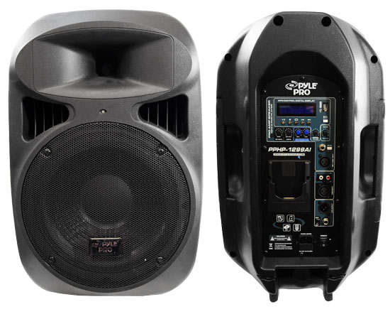 Pyle - PPHP1299AI , DJ Equipment , DJ Speakers , 12'' 1000 Watt 2-Way Full Range Loud Speaker System with iPod Dock, USB Reader & MP3/AUX Input