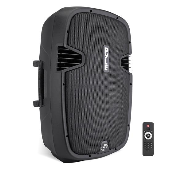 Pyle - PPHP1537UB , DJ Equipment , DJ Speakers , 15'' 1200 Watt Powered Two-Way Speaker With MP3/USB/SD/ Bluetooth Music Streaming & Record Music Function w/Remote control