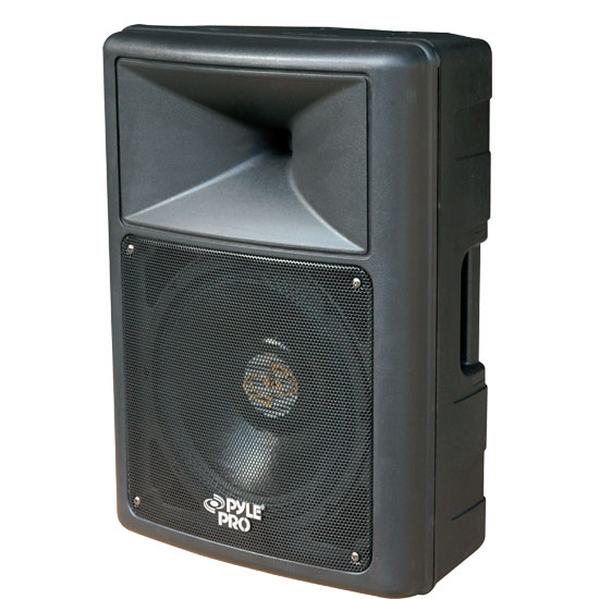 Pyle - PPHP1559 , DJ Equipment , DJ Speakers , 700 Watt 15'' Two-Way Plastic Molded Speaker Cabinet