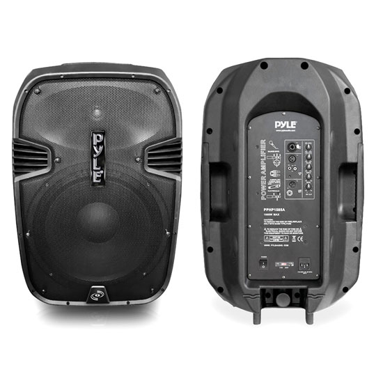 Pyle - PPHP1585A , DJ Equipment , DJ Speakers , 1000 Watts 15'' Powered 2 Ways Plastic Molded Speaker system