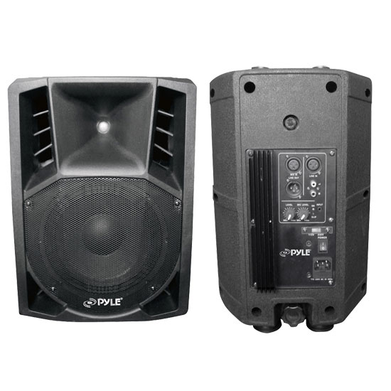 Pyle - PPHP86A , Sound and Recording , PA Loudspeakers, Molded Cabinet Systems , 400 Watts Two-Way 8'' Powered PA Speaker System