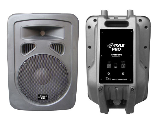 Pyle - PPHP893 , Sound and Recording , PA Loudspeakers - Cabinet Speakers , 400 Watt 8'' 2-Way Plastic Molded Loudspeaker System