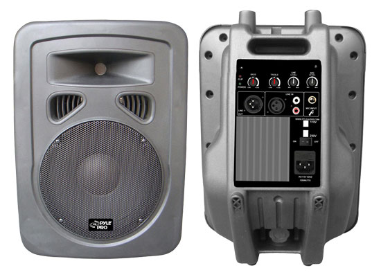 Pyle - PPHP898A , DJ Equipment , DJ Speakers , 400 Watts 8'' 2-Way Plastic Molded Powered/Amplified Speaker System
