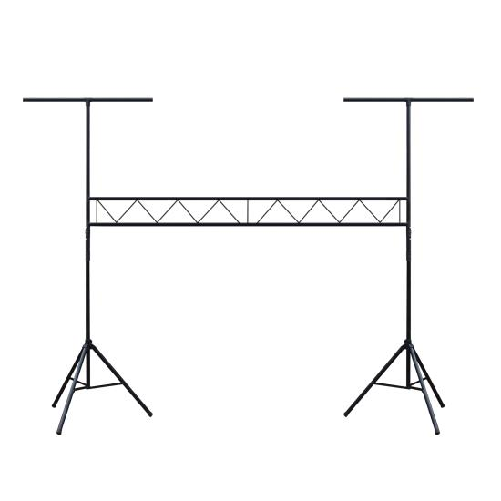 Pyle - PPLS209 , Musical Instruments , Mounts - Stands - Holders , Sound and Recording , Mounts - Stands - Holders , Lighting Truss System T-Bar Portable Light Stand, DJ Stage Equipment, Length Adjustable