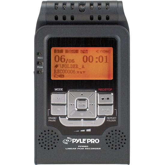 Pyle - PPR80 , DJ Equipment , Professional CD / SD MP3 Players , Linear PCM Recorder