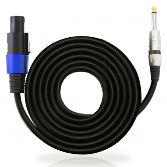 Pyle - PPSJ15 , Home and Office , Cables - Wires - Adapters , Sound and Recording , Cables - Wires - Adapters , 15ft. 12 Gauge Professional Speaker Cable Compatible With Speakon Connector to 1/4'' Male