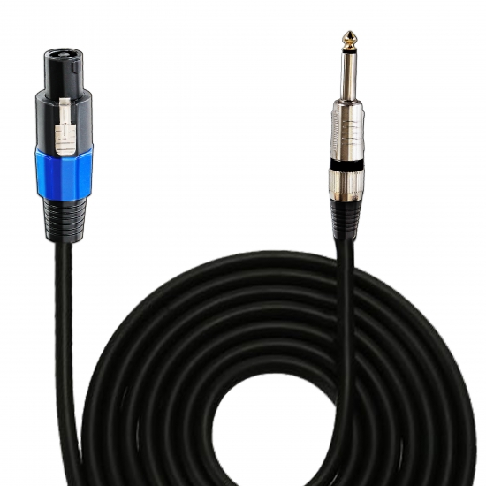 Pyle - PPSJ30 , Musical Instruments , Cables, Wiring, Adapters , Sound and Recording , Cables, Wiring, Adapters , 30ft. 12 Gauge Professional Speaker Cable Compatible With Speakon Connector to 1/4'' Male