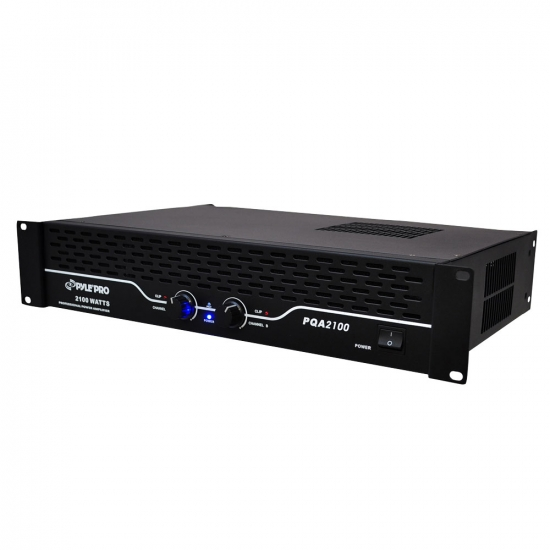 Pyle - PQA2100 , Sound and Recording , Power Amplifiers , 19'' Rack Mount 2100 Watt Professional Power Amplifier