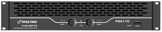Pyle - PQA3100 , Sound and Recording , Amplifiers - Receivers , 19'' Rack Mount 3100 Watt Professional Power Amplifier with SpeakON, Banana Plug/Binding Post, 1/4'' Connector Outputs and RCA and 1/4'' Connector Inputs