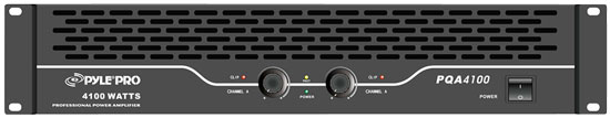 Pyle - PQA4100 , Sound and Recording , Amplifiers - Receivers , 19'' Rack Mount Bridgeable Power Amplifier,  SpeakON, Speaker Terminal Binding Posts, 1/4'' Connectors, 4100 Watt Amp