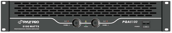 Pyle - PQA5100 , DJ Equipment , Power Amplifiers , 19'' Rack Mount 5100 Watts Professional Power Amplifier W/Digital SMT Technology