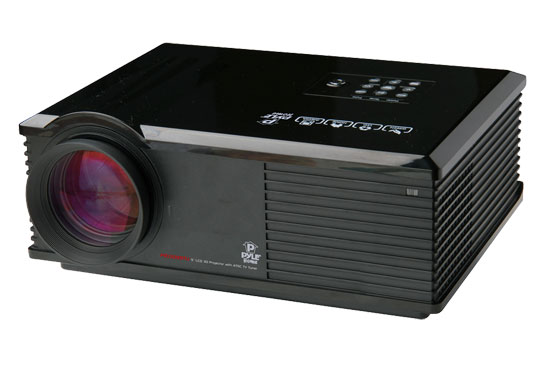 Pyle - PRJ3D99TU , Home and Office , Projectors , LED Widescreen Projector with Up To 120-Inch Viewing Screen, Built-In Speakers, & ATSC TV Tuner