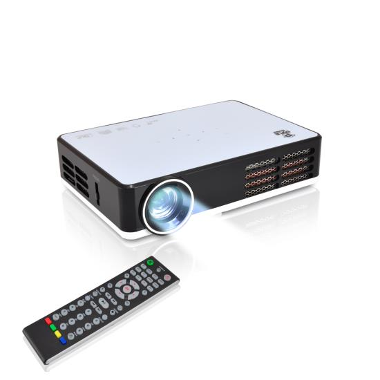 Pyle - PRJAND805 , Home and Office , Projectors , HD Mini Hi-Res Smart Projector with Built-in Android CPU, High Speed Wi-Fi Wireless Internet, 3D & Bluray Compatible, 1080p Support, Projection Size up to 115'' inches