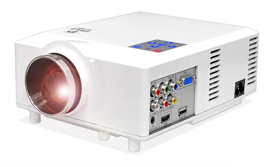 Pyle - PRJD904 , Home and Office , Projectors , Widescreen LED Projector with up to 100-Inch Viewing Screen, Built-In Speakers, USB Flash Reader & Supports 1080p