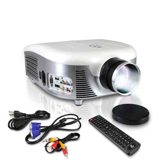 Pyle - PRJD907 , Home and Office , Home/Office Projectors , Widescreen LED Projector with up to 140-Inch Viewing Screen, Built-In Speakers, USB Flash Reader & Supports 1080p