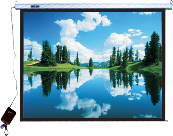 "Pyle - PRJES180 , Home and Office , Projector Screens - Accessories , 180"" Hanging Electronic Motorized Projector Screen"