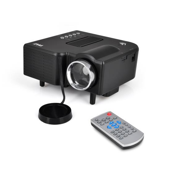 Pyle - UPRJG48 , Home and Office , Projectors , Mini Compact Pocket Projector, 1080p Support, USB/SD Card Readers, HDMI & VGA Inputs, Upside-Down Mountable