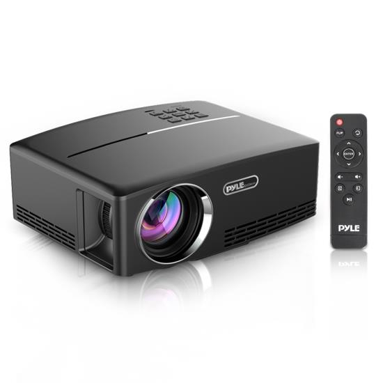 Pyle - UPRJG98 , Home and Office , Projectors , Compact Digital Projector, HD 1080p Support, Built-in Speakers, HDMI/USB/VGA