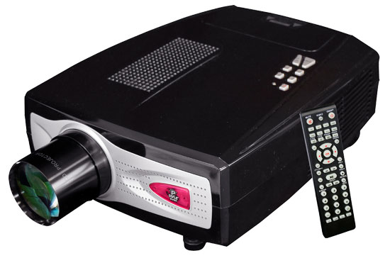 Pyle - PRJHD66 , Home Audio / Video , Home/Office Projectors , High-Definition Home Theater Multimedia Widescreen Projector - Up To 100-Inch Viewing Screen, Built-In Speakers, USB Flash Reader & PC Connection Compatible