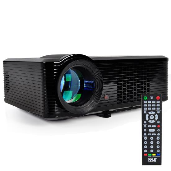 Pyle - PRJLE33 , Home and Office , Projectors , Widescreen Projector with up to 100'' Inch Viewing Screen, Built-In Speakers, 1080p HD Support, (2) HDMI Inputs, PiP Capability