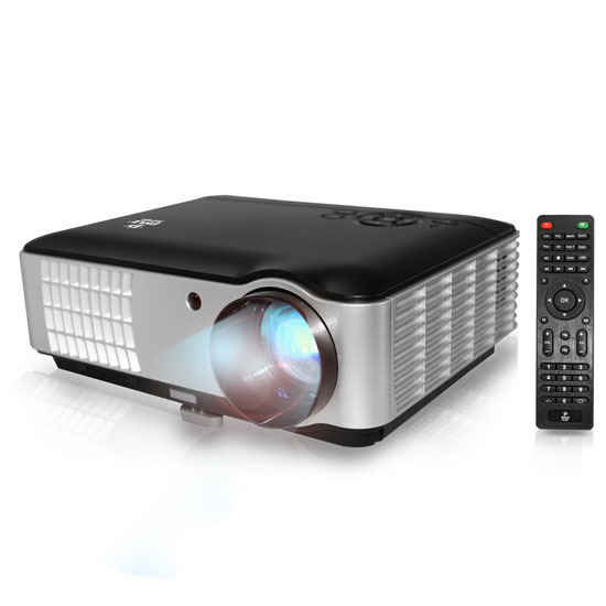 Pyle - PRJLE78 , Home and Office , Projectors , Hi-Res Home Theater Multimedia HD Projector,  1080p Support, 2800 Lumen Brightness, USB Flash Reader, eReader Text Projection Ability