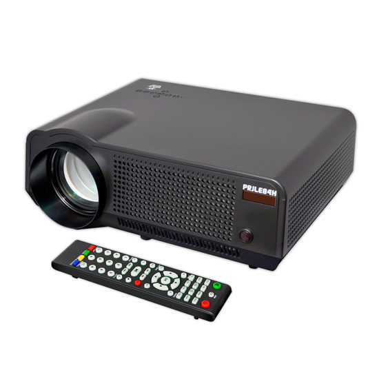 Pyle - PRJLE84H , Home and Office , Projectors , High-Definition Widescreen Projector with up to 120-Inch Viewing Screen, Built-In Speakers, USB Flash Reader & Accepts 1080p Signal
