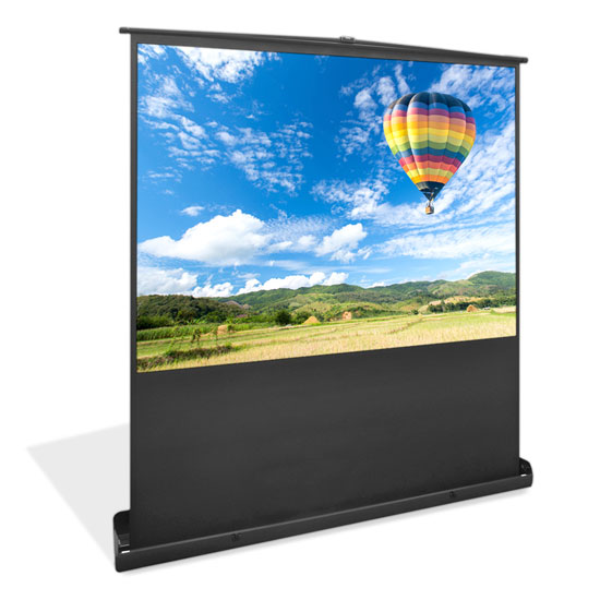 Pyle - PRJSF7208 , Home and Office , Projector Screens - Accessories , Universal 72-Inch Floor Standing Portable Roll-Up Pull-Out Manual Projector Screen  Matte White