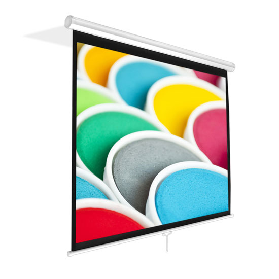 Pyle - PRJSM9406 , Home and Office , Projector Screens - Accessories , Universal 84-Inch Roll-Down Pull-Down Manual Projection Screen (50.3'' x 67.3'') Matte White