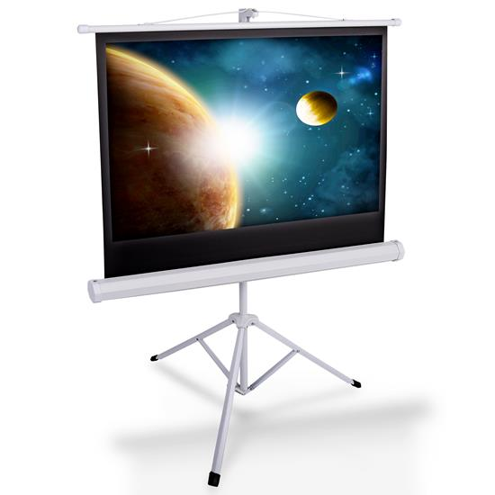 Pyle - PRJTP42 , Home and Office , Projector Screens - Accessories , 40-inch Video Projector Screen - Manual Roll-Up & Fold-Out Projection Display, Tripod Stand Style