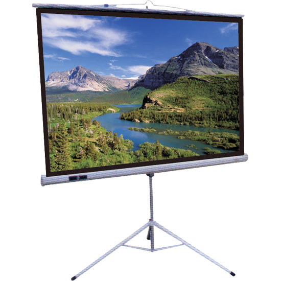 "Pyle - PRJTR100 , Home and Office , Projector Screens - Accessories , 100"" Tripod Stand Manual Pull-Down Projector Screen"