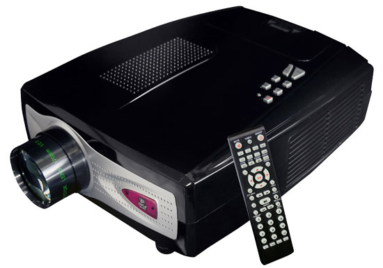 Pyle - PRJV66 , Home Audio / Video , Home/Office Projectors , Home Theater Multimedia Widescreen Projector - Up To 100-Inch Viewing Screen, Built-In Speakers & PC Connection Compatible