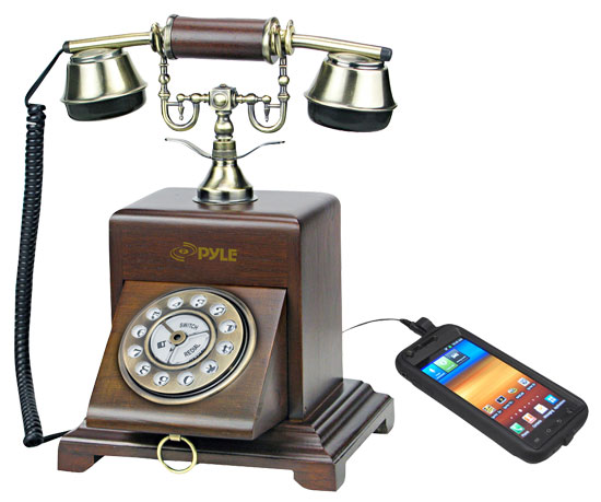 Pyle - prt25i , Musical Instruments , Turntables - Phonographs , Sound and Recording , Turntables - Phonographs , Retro Antique Classic Desk Phone 1920 Reproduction