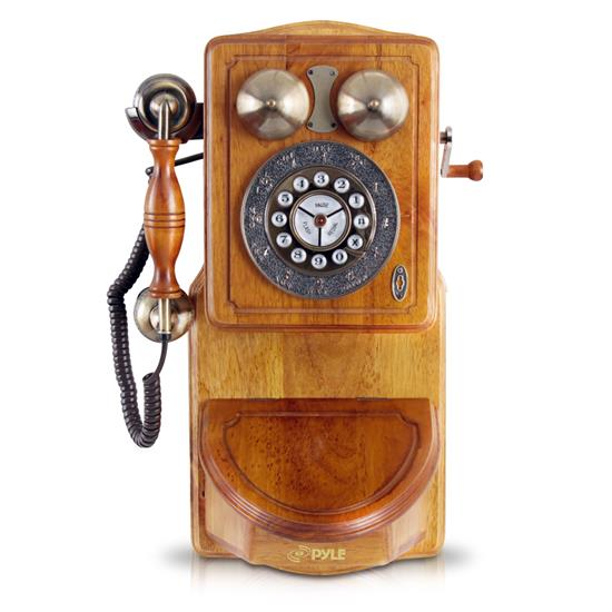 Pyle - prt45 , Musical Instruments , Turntables - Phonographs , Sound and Recording , Turntables - Phonographs , Retro Themed Coutry-Style Retro Antique Wall-Mount Phone