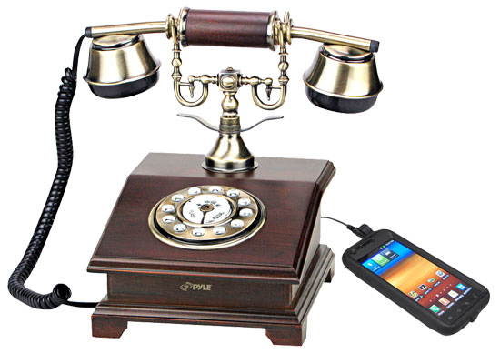 Pyle - PRT55I , Musical Instruments , Turntables - Phonographs , Sound and Recording , Turntables - Phonographs , Authentic Classical Retro Antique Phone