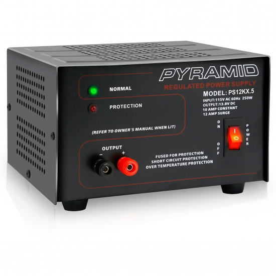 Pyle - PS12KX , Home and Office , Power Supply - Power Converters , Bench Power Supply, AC-to-DC Power Converter (10 Amp)
