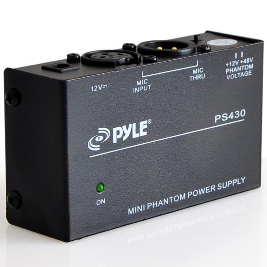 Pyle - PS430 , Sound and Recording , Audio Processors - Sound Reinforcement , Compact 1-Channel 48V Phantom Power Supply