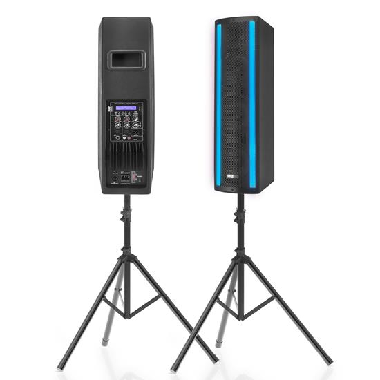 Pyle - PS65ACT , Sound and Recording , PA Loudspeakers - Cabinet Speakers , 3 x 6.5'' Bluetooth Combo Speaker Boxes - Active & Passive DJ Loud Speakers with RGB Lights, USB/SD Card/MP3/FM/RCA/Mic Inputs, LED Screen, Wireless Remote Control, for Indoor/Outdoor Use
