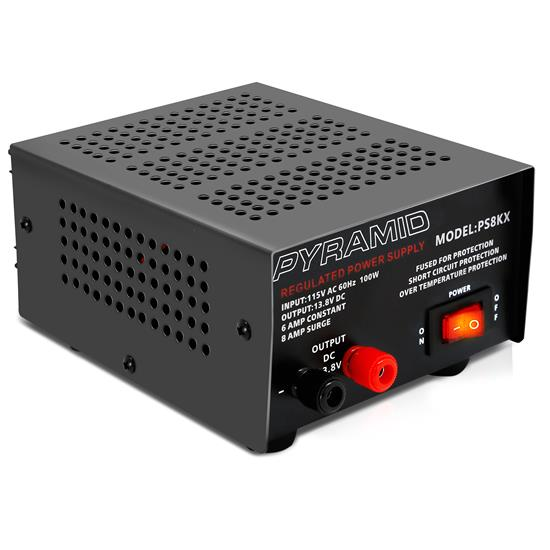 Pyle - PS8KX , Home and Office , Power Supply - Power Converters , Bench Power Supply, AC-to-DC Power Converter (6 Amp)