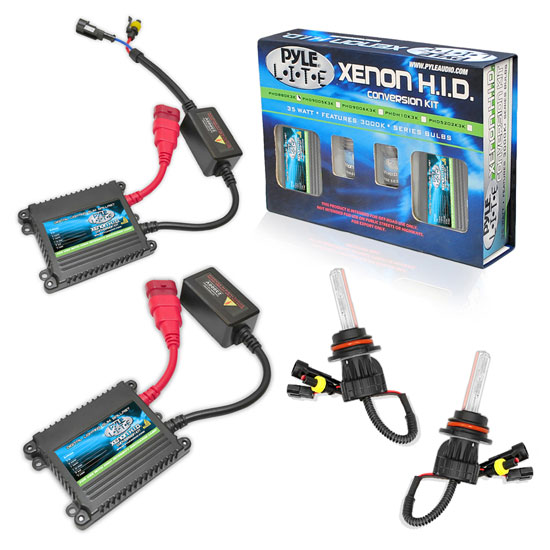 Pyle - PSB9004K10K , Performance Parts , HID Xenon Conversion Kits , 10,000K Slim Ballast Dual (Low/High) Beam HID Xenon Driving Lights