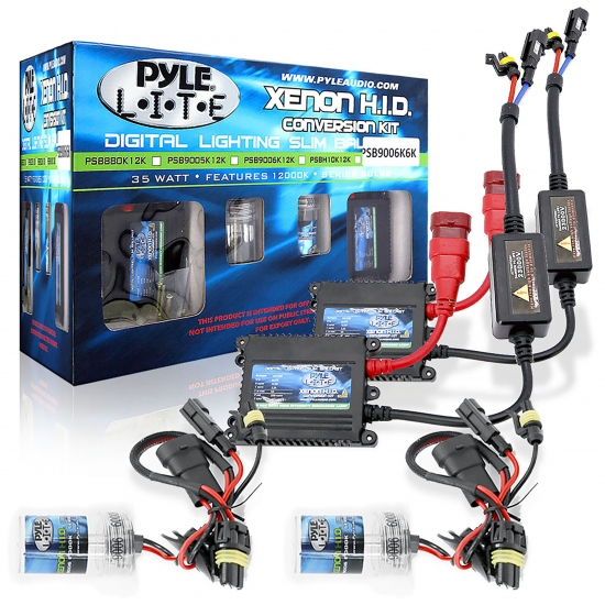 Pyle - PSB9006K6K , Disc , 6,000K Slim Ballast Single Beam HID Xenon Driving Lights