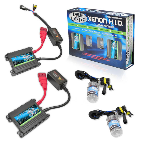 Pyle - PSB9007K12K , Performance Parts , HID Xenon Conversion Kits , 12,000K Slim Ballast Dual (Low/High) Beam HID Xenon Driving Lights