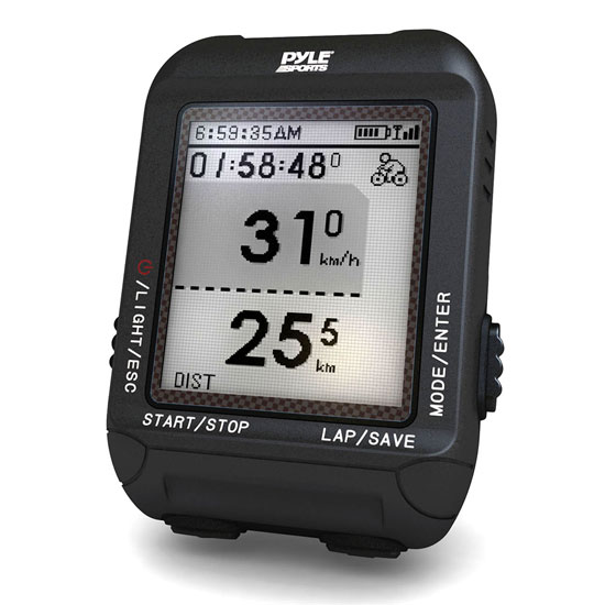 Pyle - PSBCG90BK , Sports & Outdoors , Bicycle Electronics , Smart Bicycling Computer with GPS Performance & Navigation Analysis Software and ANT+ Technology for Biking, Training, Exercise, Fitness (Black Color)