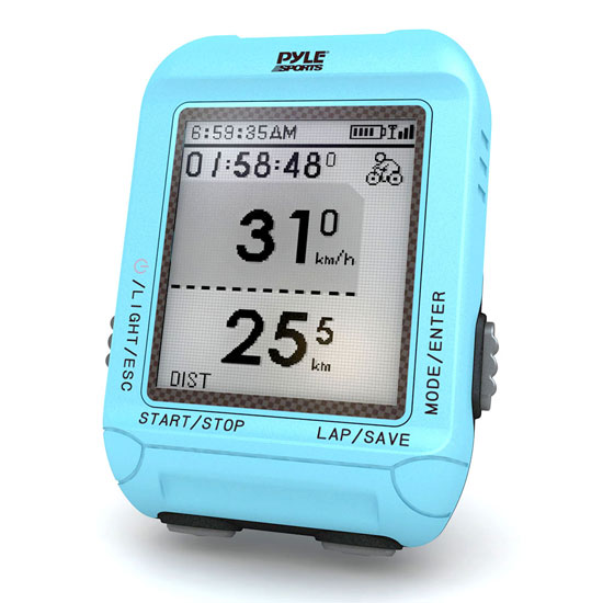Pyle - PSBCG90BL , Sports and Outdoors , Fitness and Training Sensors , Gadgets and Handheld , Fitness and Training Sensors , Smart Bicycling Computer with GPS Performance & Navigation Analysis Software and ANT+ Technology for Biking, Training, Exercise, Fitness (Blue Color)
