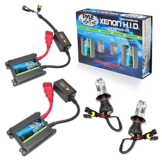 Pyle - PSBH4K10K , Performance Parts , HID Xenon Conversion Kits , 10,000K Slim Ballast Dual (Low/High) Beam HID Xenon Driving Lights